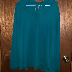Torrid Green Long Sleeve Green Top Size 3